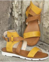 Жълти дамски ежедневни сандали Amparo в online магазин Fashionzona