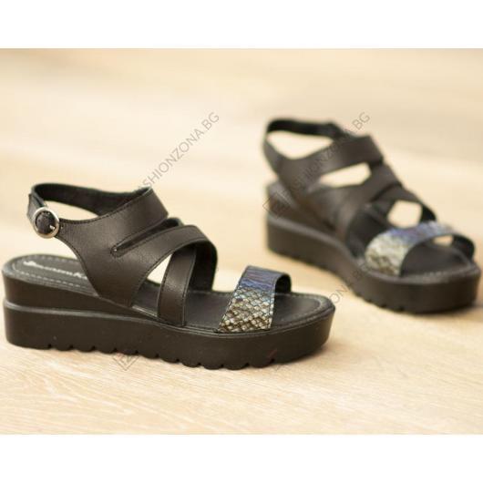 Черни дамски ежедневни сандали Zahra