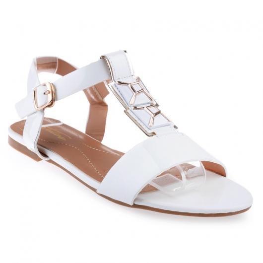 Бели дамски ежедневни сандали Aspen