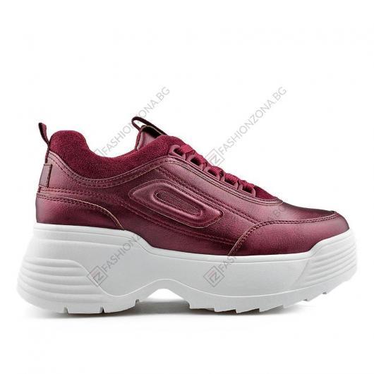 Бордо дамски ежедневни обувки Bridget