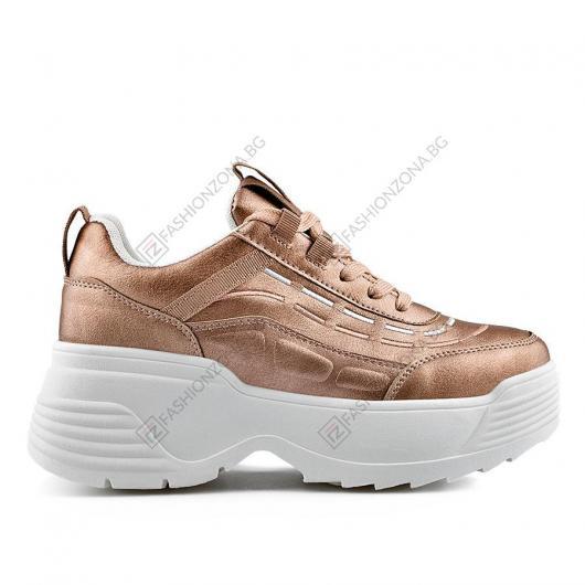Златисти дамски ежедневни обувки Erna