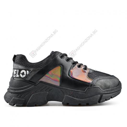 Черни дамски ежедневни обувки Emberly