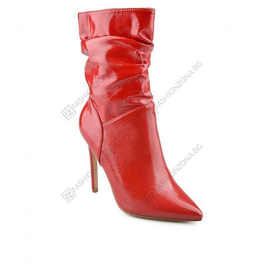 Червени дамски елегантни боти Janette