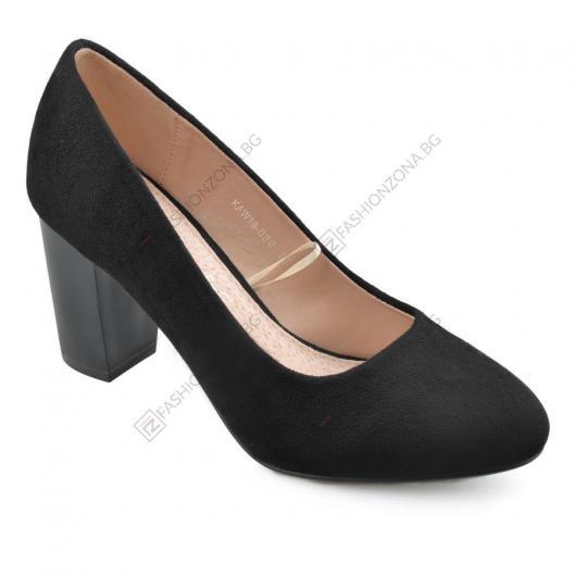 Черни дамски елегантни обувки John