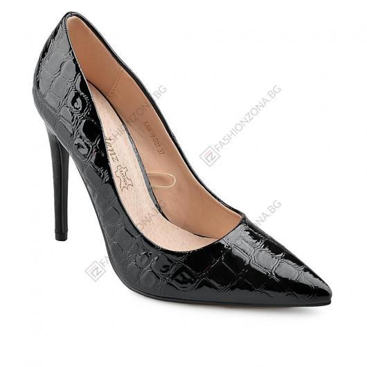 Черни дамски елегантни обувки Madilynn