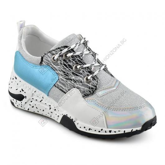 Бели дамски ежедневни обувки Hanna