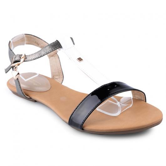 Черни дамски ежедневни сандали Jewella