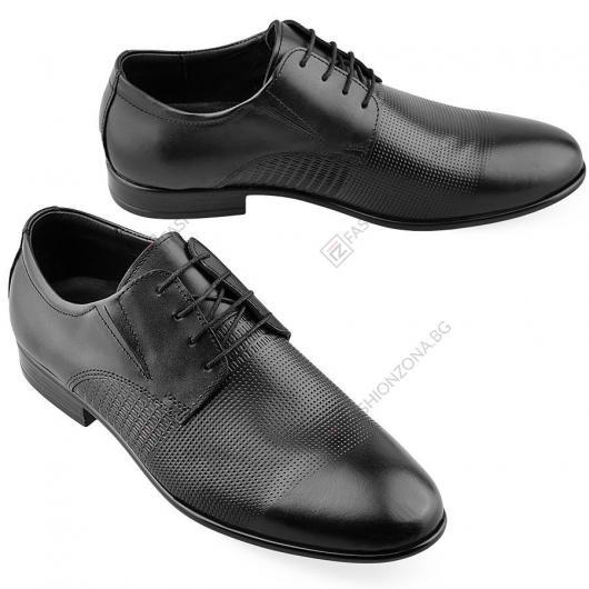 Черни мъжки елегантни обувки Stella