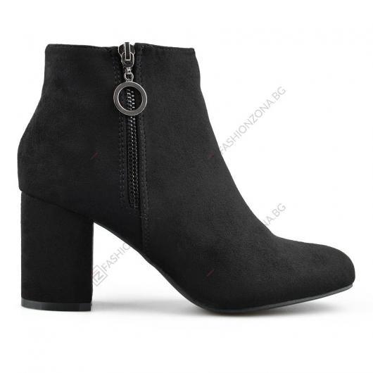 Черни дамски елегантни боти Aliya