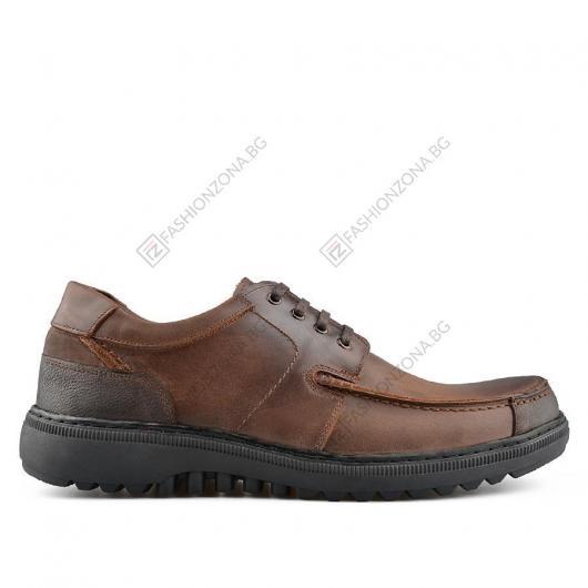 Кафяви мъжки ежедневни обувки Janis Berto