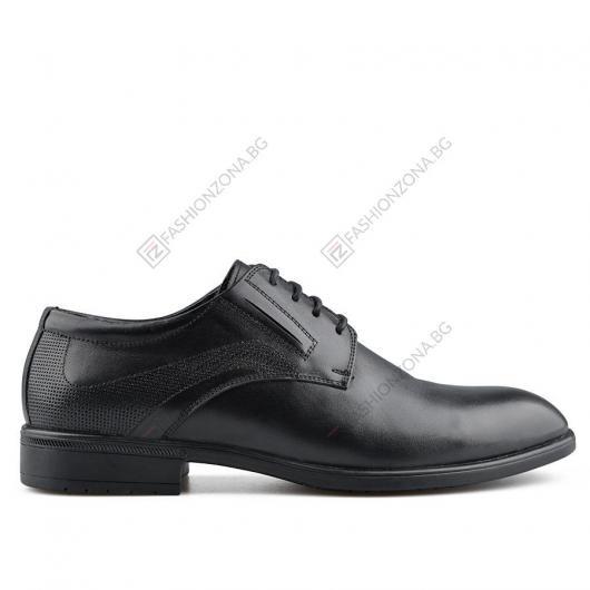 Черни мъжки елегантни обувки Nell Aquilino