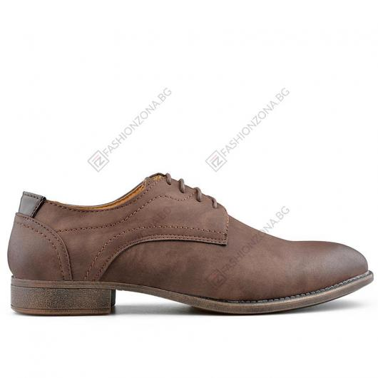 Кафяви мъжки елегантни обувки Rodolfo