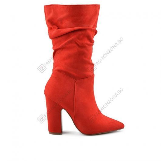Червени дамски елегантни боти Teri