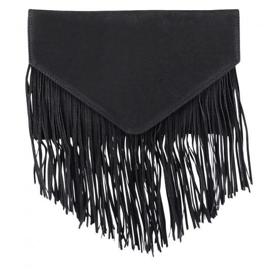 Черна дамска елегантна чанта Leana