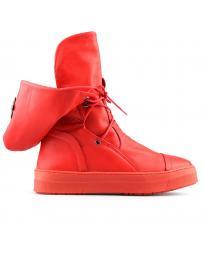 Червени дамски кецове с топъл хастар Karmen в online магазин Fashionzona