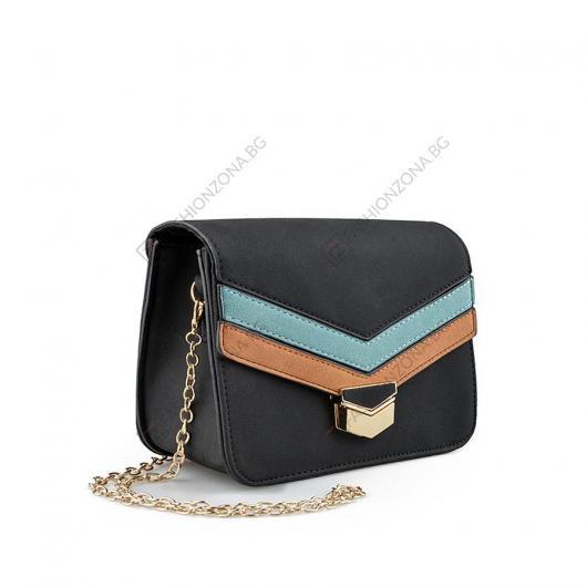 Черна дамска ежедневна чанта Antonella