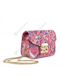 Розова дамска ежедневна чанта Liliana