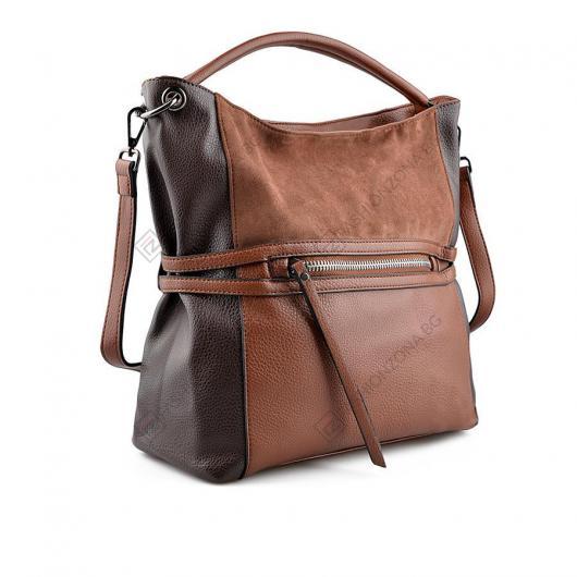 Кафява дамска ежедневна чанта Sharron