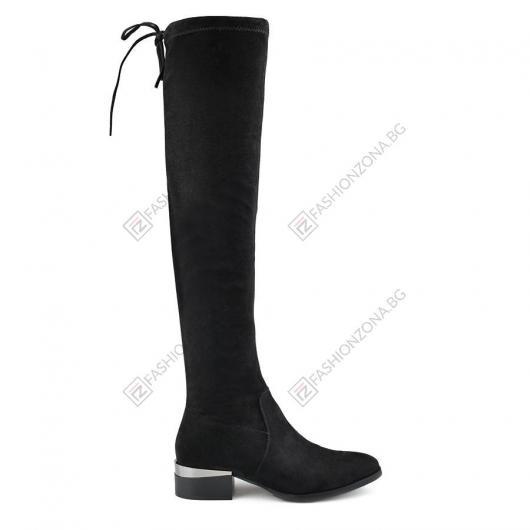 Черни дамски елегантни ботуши Tabor