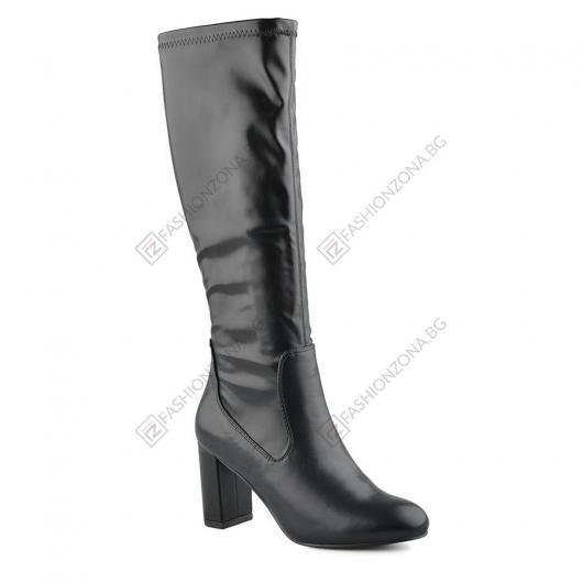 Черни дамски елегантни ботуши Chale