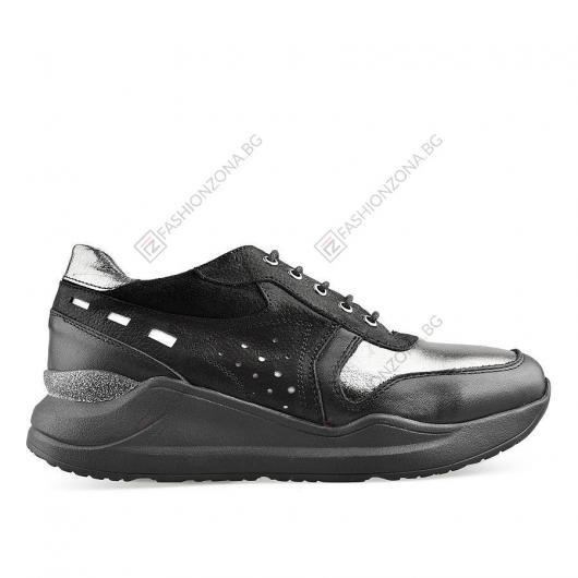 Черни дамски ежедневни обувки Vada