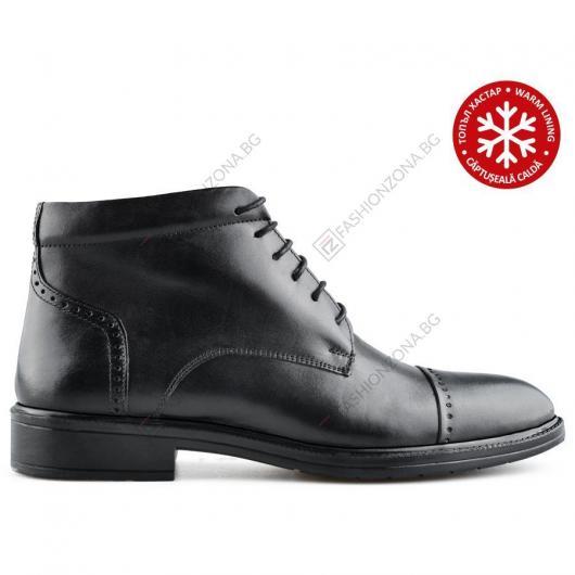Черни мъжки елегантни боти с топъл хастар Che