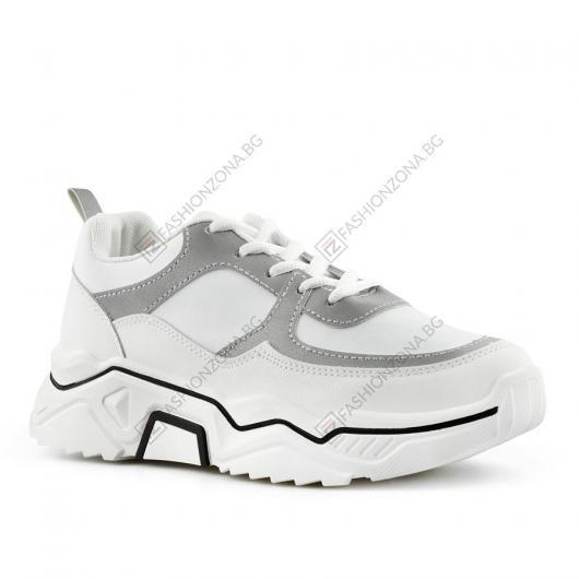 Бели дамски ежедневни обувки Galo
