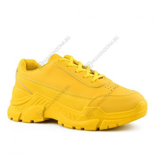 Жълти дамски ежедневни обувки Nicandreo