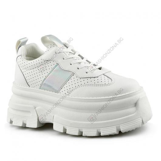 Бели дамски ежедневни обувки Saturnin