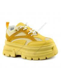 Жълти дамски ежедневни обувки Kemen