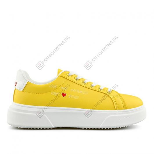 Жълти дамски ежедневни обувки Natale