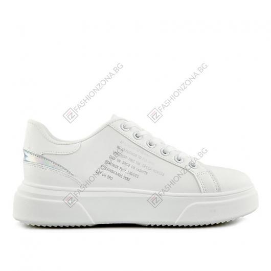 Бели дамски ежедневни обувки Chairo
