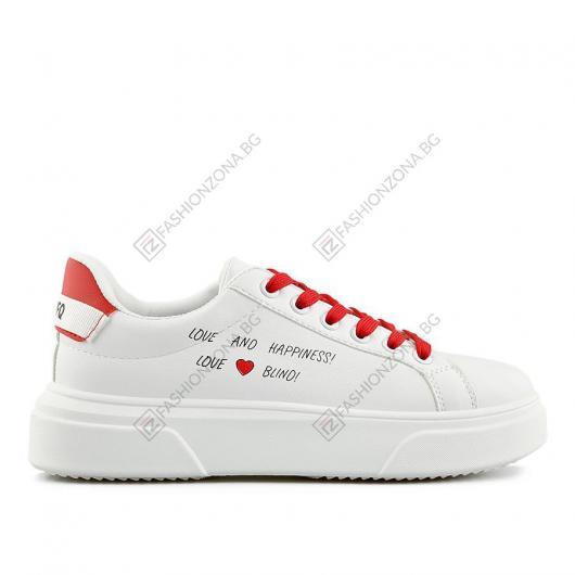 Бели дамски ежедневни обувки Arlowe