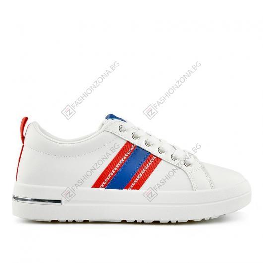 Бели дамски ежедневни обувки Leo