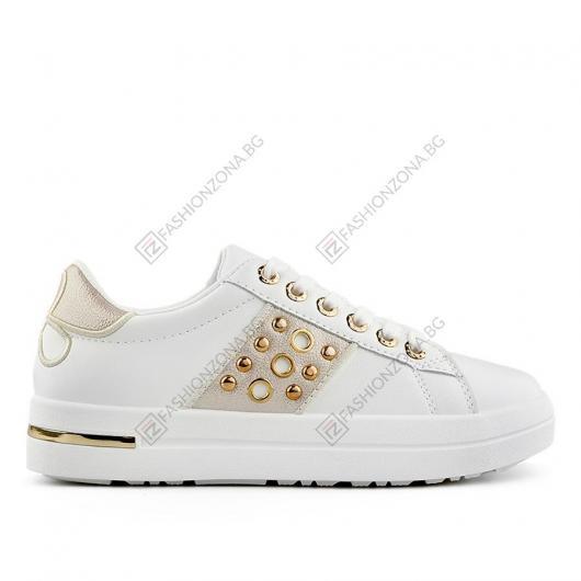 Бели дамски ежедневни обувки Marianus