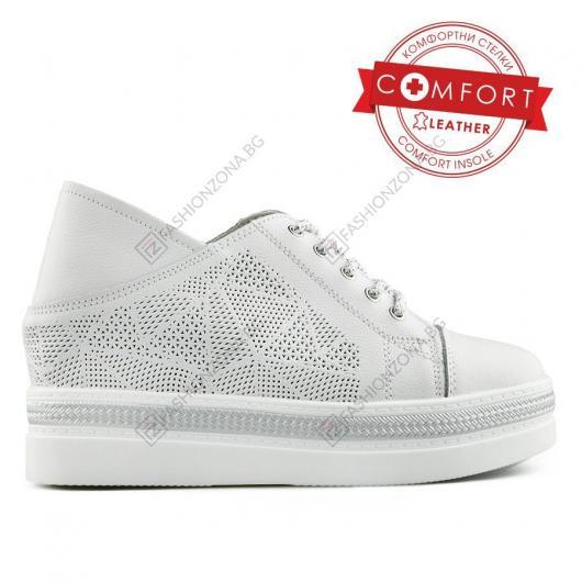 Бели дамски ежедневни обувки Bartolo