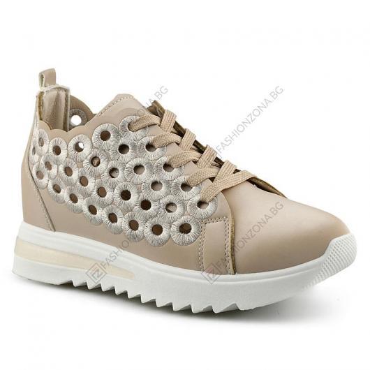 Бежови дамски ежедневни обувки Ramone