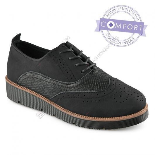 Черни дамски ежедневни обувки Chino
