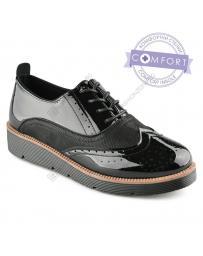 Черни дамски ежедневни обувки Domenico