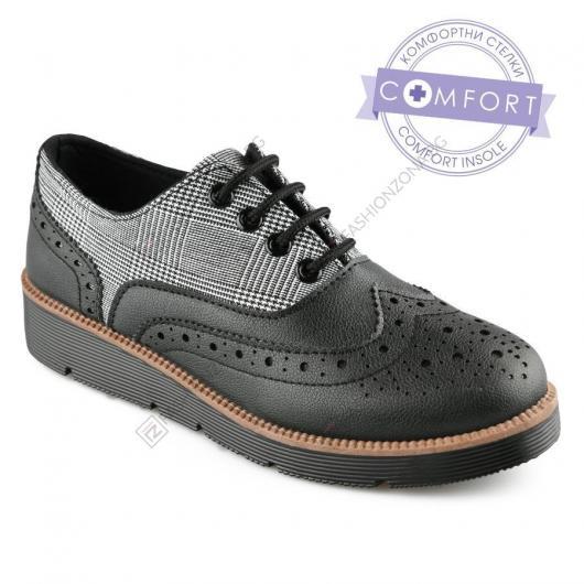 Черни дамски ежедневни обувки Flaminio