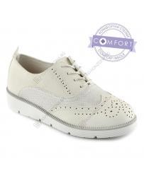 Бели дамски ежедневни обувки Sandiago