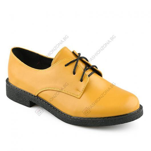 Жълти дамски ежедневни обувки Incendio