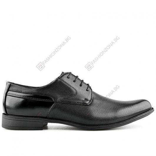 Черни мъжки елегантни обувки Ricardo