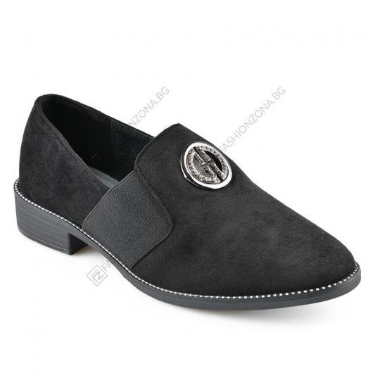Черни дамски ежедневни обувки Jerico