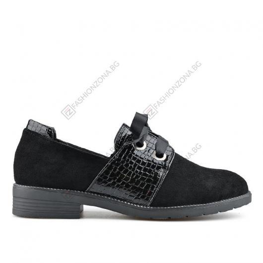 Черни дамски ежедневни обувки Amador
