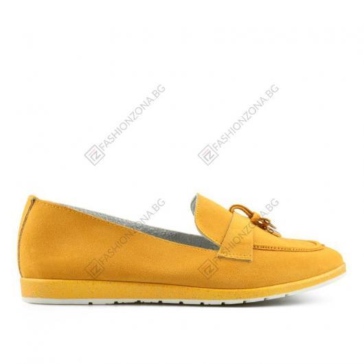 Жълти дамски ежедневни обувки Damaro