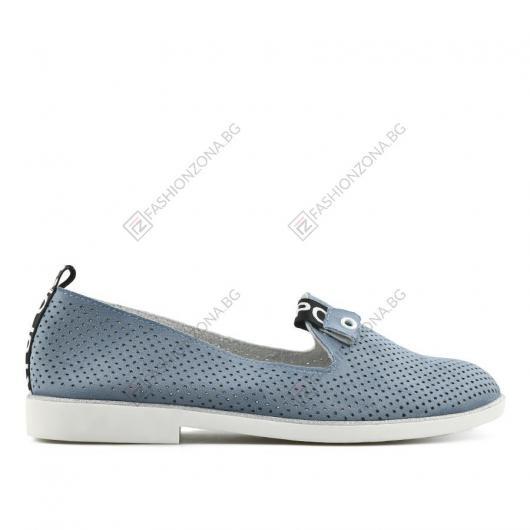 Сини дамски ежедневни обувки Cid