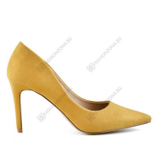 Жълти дамски елегантни обувки Alphonsus