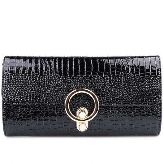 Черна дамска елегантна чанта Hayley