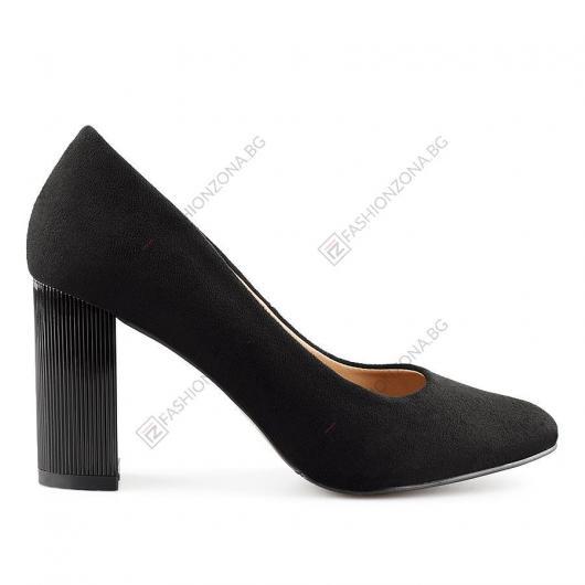 Черни дамски елегантни обувки Lorentz